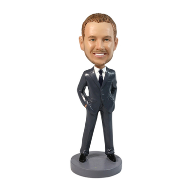Best Selling Groomsmen Wedding Bobbleheads Hands In Pockets