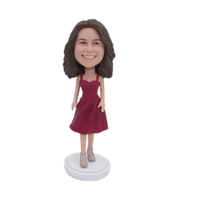 Female Casual Bobbleheads In Nice Dress
