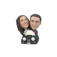 Custom Couples Bobbleheads Driving The Car