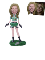Custom Female Military Bobblehead