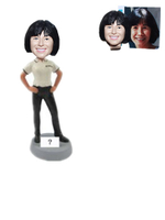 Custom Casual Female Boss Bobblehead