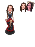 Custom Bobblehead Lady in Dancing Dress