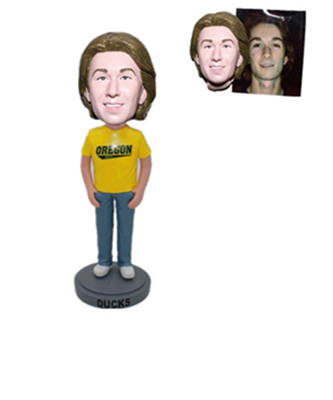 Custom Bobblehead Shirt with Custom Logo