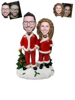 Christmas Gift Custom bobblehead Christmas Couple
