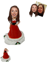 Chriistmas Girl Bobbleheads