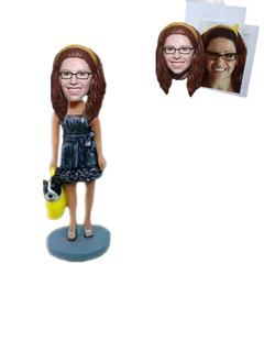 Custom Bobblehead Female with A Dog