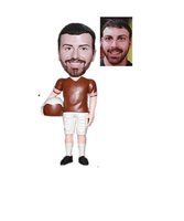 Football Player Holding A Helt Custom Bobble Head From Photo