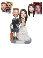 Custom Wedding Bobblehead Man in Kilt