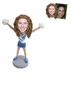 Personalized Cusrom Bobblehead Cheerleader