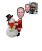 Custom Christmas Gift Santa Bobble Head