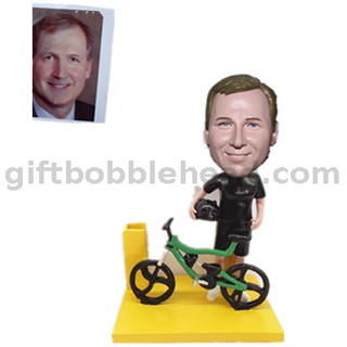 Biker Custom Bobblehead with Card Holder