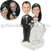 Personalized Wedding Custom Bobblehead Couple