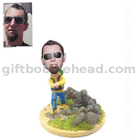 Personalized Custom Bobbleheads Mountaineer Sport Bobble Head Climber