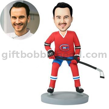 Custom Hockey Bobble Head in Your Team Jersey