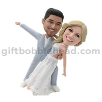 Wedding Cake Toppers Custom Couple Bobblehead Dancing Couple Anniversary Gift