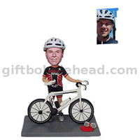 Biker Custom Bobblehead Gift for Bike Rider