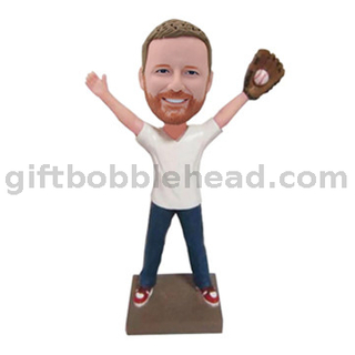 Custom Bobblehead Baseball Catcher