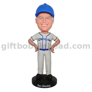 Baseball Custom Bobblehead Man in Baseball Jersey with Hands on Hips