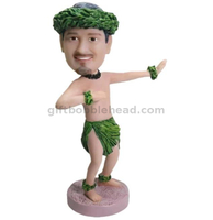Custom Man Hula Figure Bobblehead