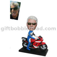Custom Motorcyclist Bobblehead From Photo