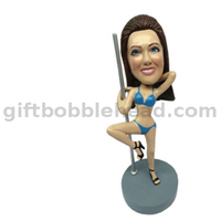Female Dancer Custom Bobblehead Lady Dancing on A Steel Pole