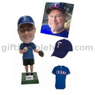 Personalized Custom Baseball Bobble Head From Photo