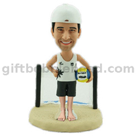 Custom Sport Bobblehead Volleyball Custom Bobbleheads