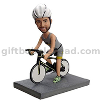 Custom Biker on The Bike Custom Bobblehead